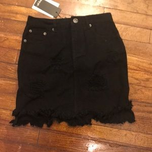 Nasty Gal black jean skirt